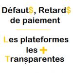 Défauts de paiement : Les plateformes Crowdfunding les plus transparentes