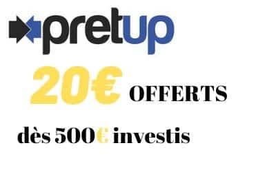 Offre Parrainage PRETUP 20 euros