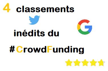 4 Classements CrowdFunding inédits juste pour le plaisir