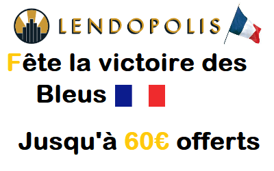 60€ offerts via l'offre parrainage LENDOPOLIS