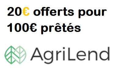 20€ offerts via l'offre AGRILEND Parrainage