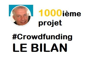 1000ième projet CrowdFunding – 19 plateformes – 91K€ prêtés – Le Bilan