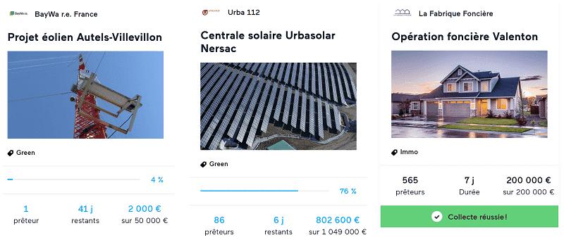 Avis Lendopolis - Projets ENR et immobilier