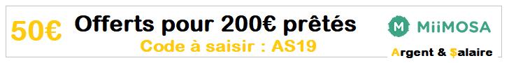 50 € offerts pour 200 € prêtés avec le code AS2019
