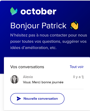 Support October - Live Chat