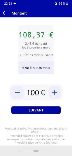 October Application mobile - Prêter