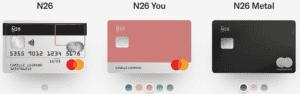 Choisissez la carte de crédit N26 quii vous convient