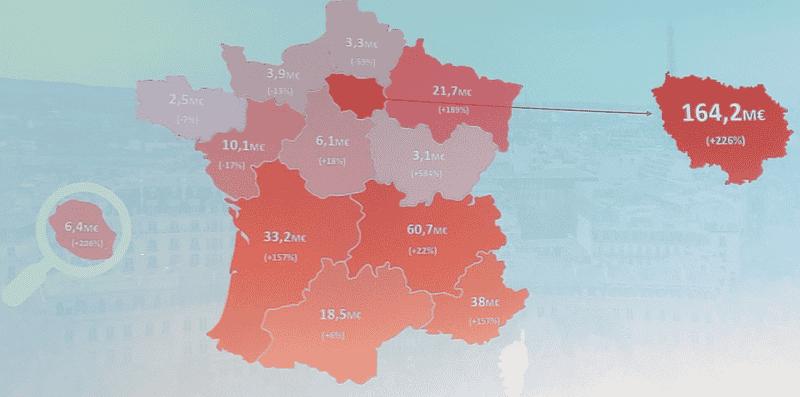 Répartition géographique Crowdfunding Immobilier 2019