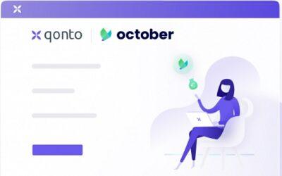 October et Qonto s'associent : Prêts ultra rapide et 100% en ligne